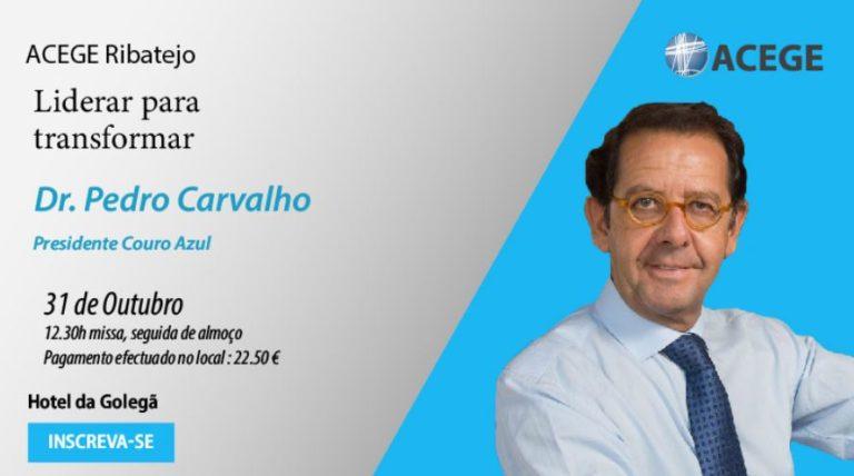 Almoço debate Pedro Carvalho, Ceo Couro Azul. Golegã