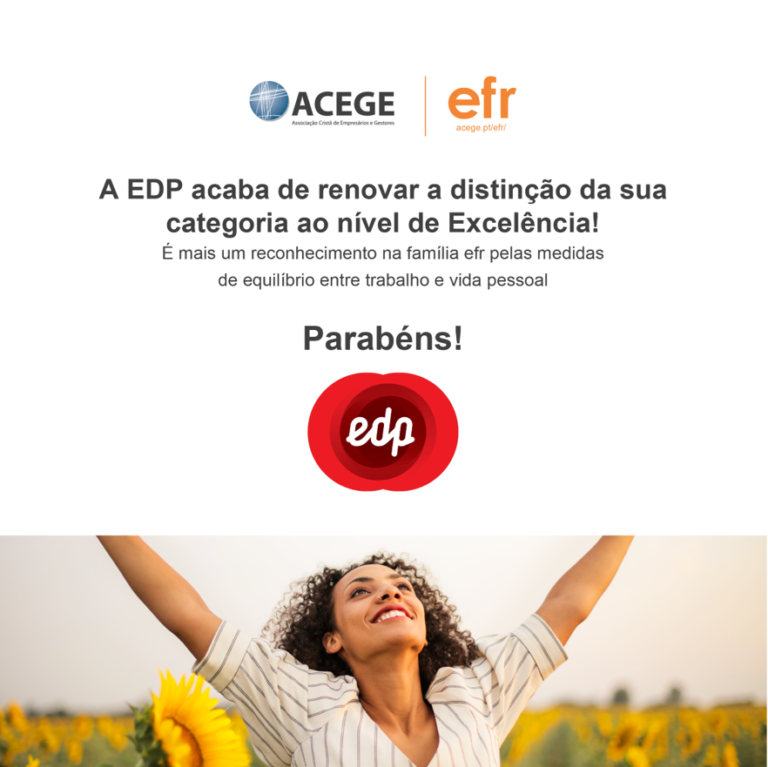 EDP reconhecida como empresa familiarmente responsável excelência