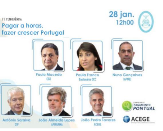 """Conferência """"Pagar a horas, fazer crescer Portugal"""""""